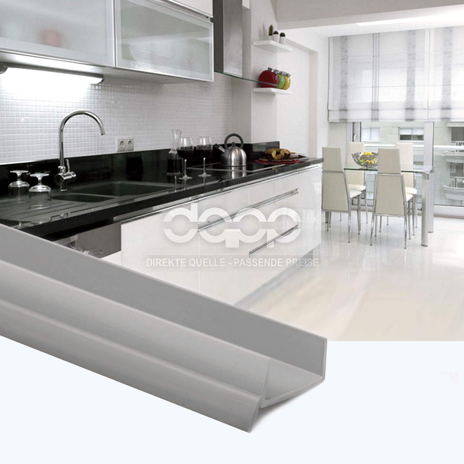 Transparent 1 5m 18mm Bavette De Plinthes Cuisine Mdf Protection Ar Tes Humidit Ebay