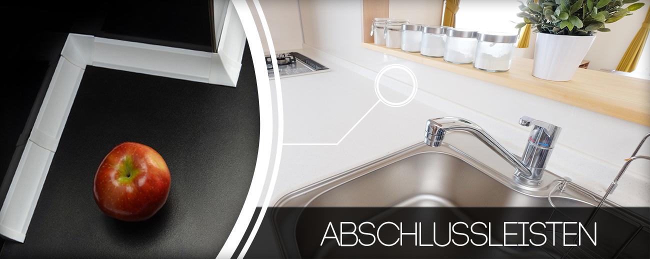2 5m abschlussleiste zubeh r 23mm winkelleiste tischplatte arbeitsplatte nadrensee. Black Bedroom Furniture Sets. Home Design Ideas