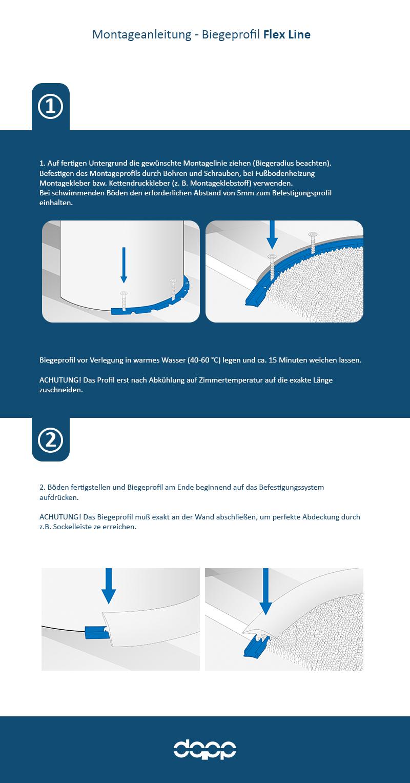 Bodenprofil flexibel biegbar Übergangsprofil 3-12 Meter Montageprofil