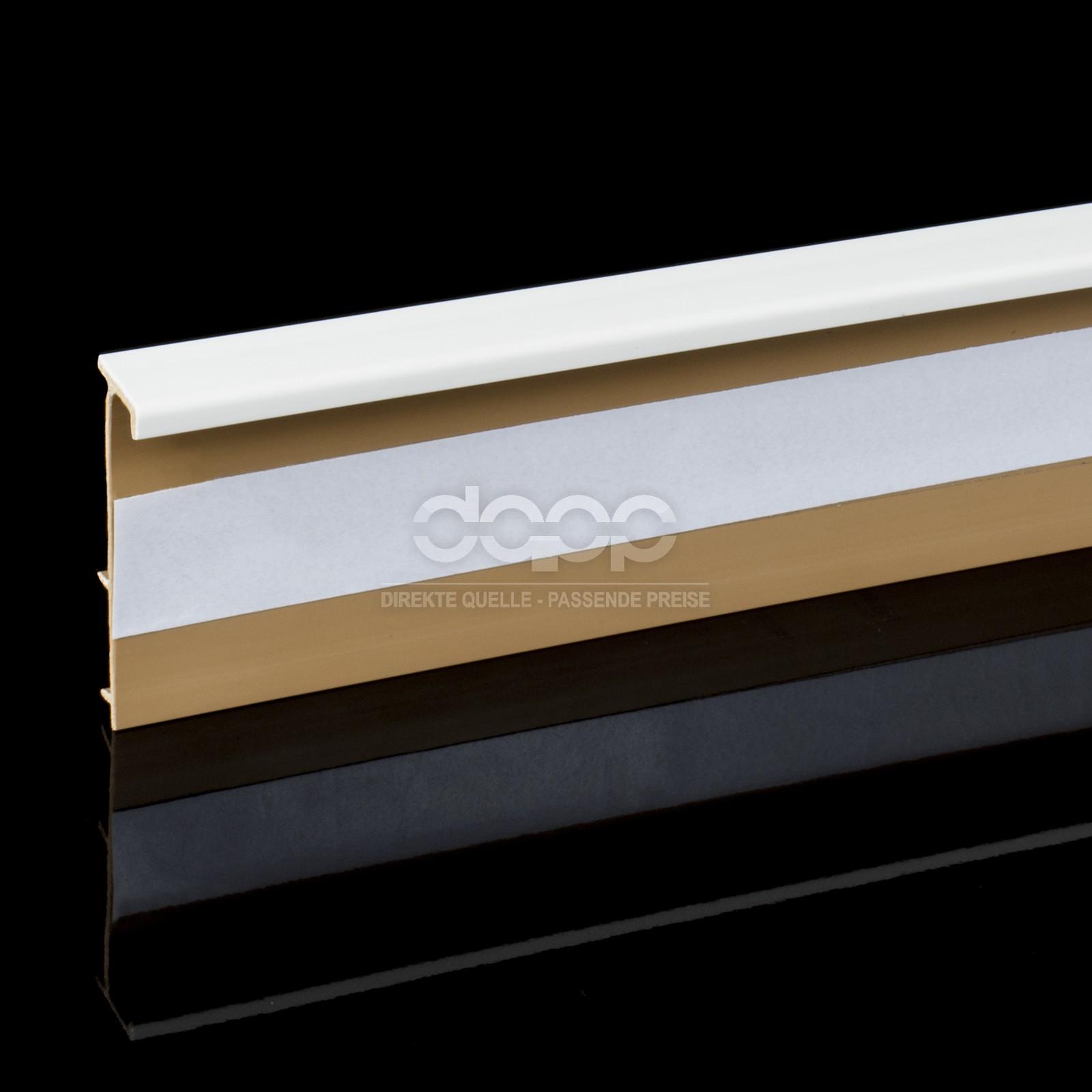 Plinthe pour tapis pvc blanc 2 5m accessoires angle bord - Plinthe pvc blanc ...