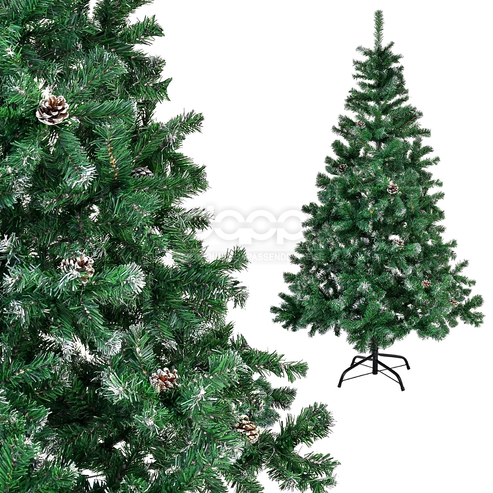 Beautiful christmas trees artificial 150 180cm xmas green white pine frost snow ebay - Tips to care for a natural christmas tree ...