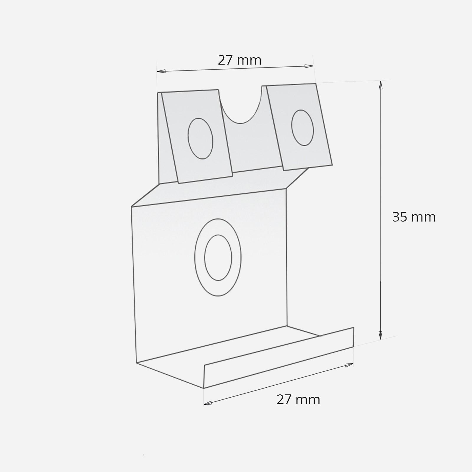 2 5m simple mdf skirting board edging corner clips